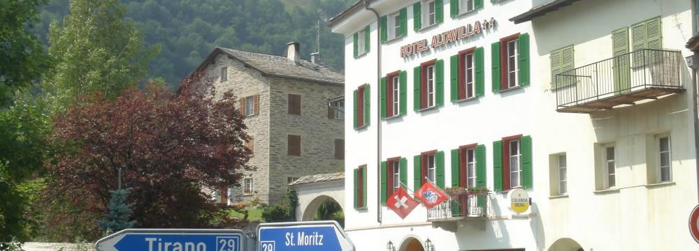 Restaurants in Poschiavo: Restaurant Altavilla - Hotel