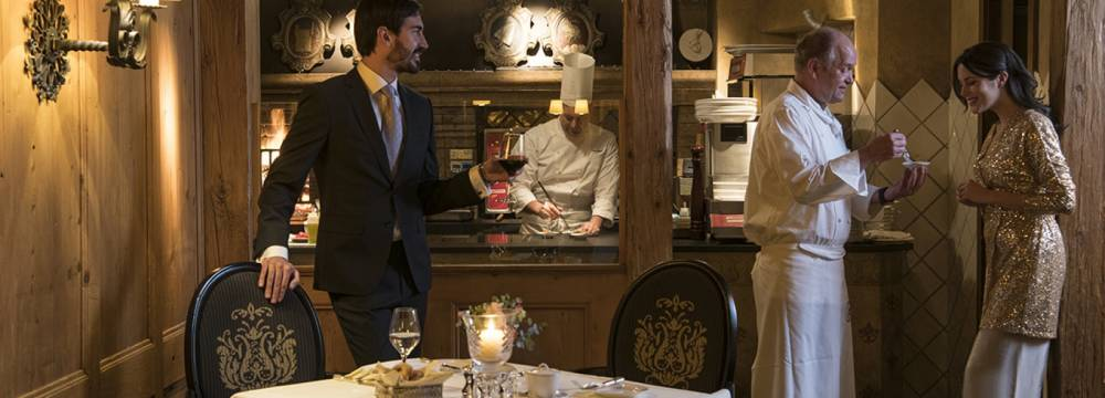 Restaurants in Gstaad: Le Grill Gstaad Palace