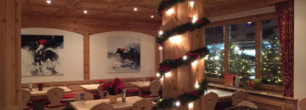 Restaurants in St. Moritz: Hotel Restaurant Corvatsch