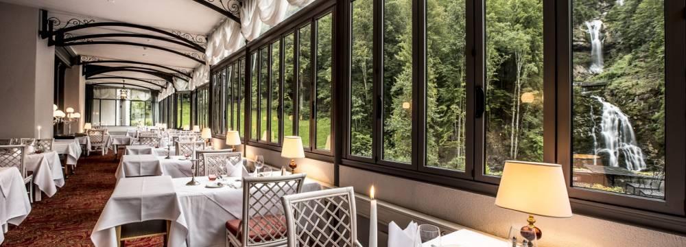 Restaurants in Brienz: Parkrestaurant Les Cascades