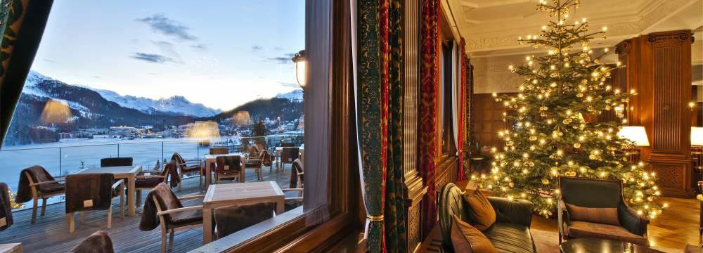 Restaurants in St. Moritz: Lobby und Sonnenterasse, St. Moritz