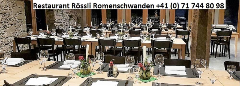 Restaurants in St. Margrethen: Rössli Romenschwanden