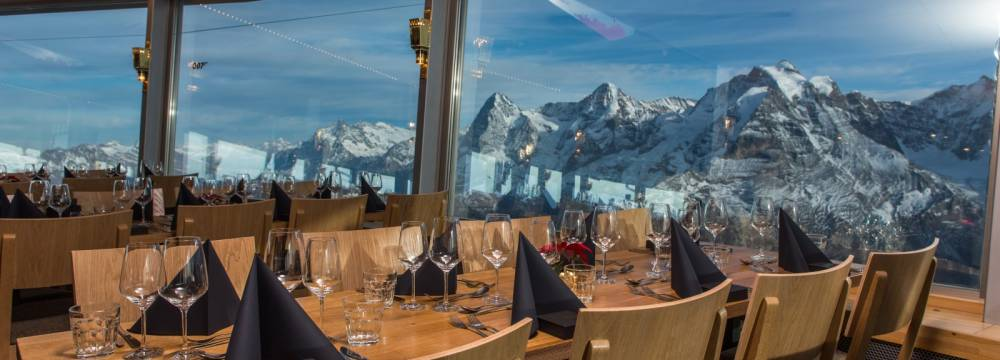 Restaurants in Murren: 360°-Restaurant Piz Gloria