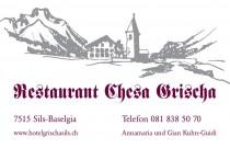 Logo von Restaurant Chesa Grischa in Sils-Baselgia im Engadin